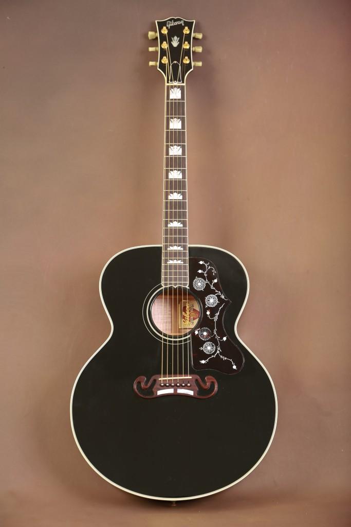 1994 gibson j 200 ebony acoustic guitar the acoustic room. Black Bedroom Furniture Sets. Home Design Ideas